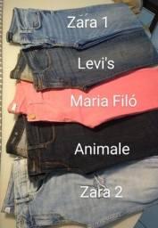 Combo de calças jeans marcas variadas