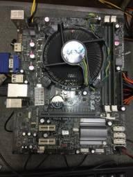 placa mãe c/processador Celeron e 2GB de ram