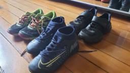 Tênis infantil 32/33 Nike Chuteira Bibi Asics Crocs