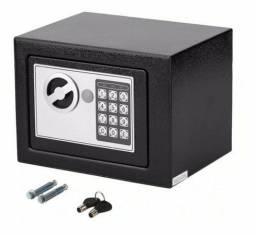 Cofre eletrônico com chave reserva