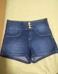 Short Jeans cintura alta 40
