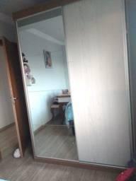 Guarda Roupa Solteiro com espelho e porta de correr