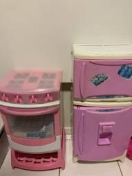 fogão e geladeira infantil