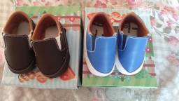 Sapato bebê tamanho P (RN)