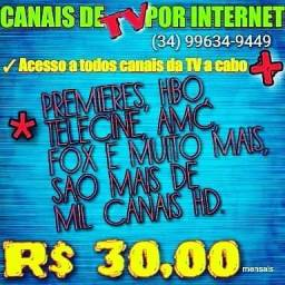 Canais por internet