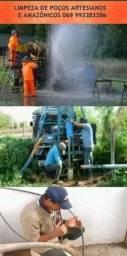 Limpeza de poços artesianos e amazonicos