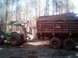 Trator john deere 6110e ano 2012 com carregador florestal TMO 7.60 2014