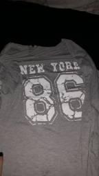 Blusa/Vestido New York Cinza Tamanho P