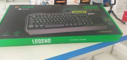 Teclado Gamer Goldentec Legend LED Backlight Verde Aluminium Edition