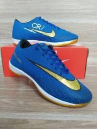Tênis Futsal Nike Blue Gold