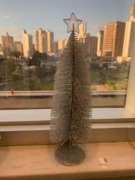 Árvore de Naltal Glitter prata 30cm