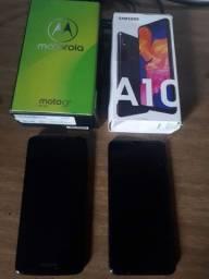 G6 plus    Samsung A10. Não ligam .