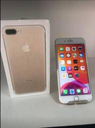 Iphone 7plus dourado 128gb