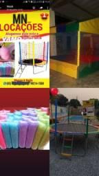 Aluguel De Pula Pula .maquina de lgoodao doce  e piscina de bolinhas