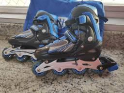 Roller/patins e kit de proteção