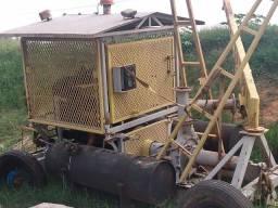 Conjunto motor motobomba de irrigação diesel