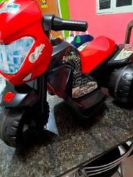 Moto Elétrica Infantil Marchas 6V - Bandeirante