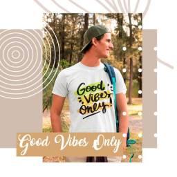 Camiseta Unissex Good Vibes Only - John Way