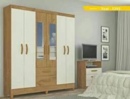 guarda roupa 06 portas c/ espelho mega promoção ( entrega e montagem imediata sem taxas )