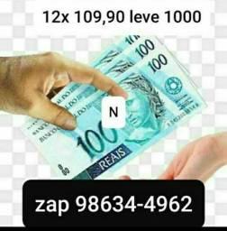 Dinheiro @ cartão 1000 12x 109,90