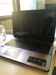 Notebook asus 2gb de memória / hd 500gb / cpu Intel core 3