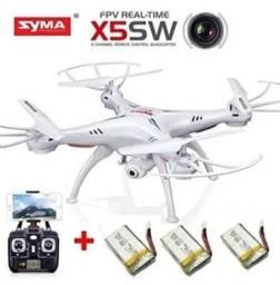 Drone syma x5sw com câmera via Wi-Fi