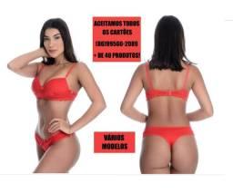 Lingerie modelo fio vermelha
