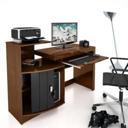 Mesa para Computador Vamol Shari - Imbuia/Preto