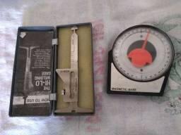 Hi-lo calibre de solda aço inox + um transferidor de grau