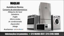 Conserto de máquina de lavar,geladeira,fogão,micro-ondas,ar condicionado,aquecedor e adega