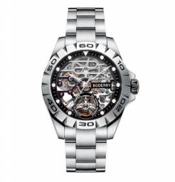 Relógio Luxuoso Boderry Esquelético c/ 72h Reserva de Poder 100% Novo Preço de Custo
