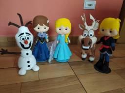 Kit Decoração festa infantil - Tema Frozen - Bolo fake mais personagens