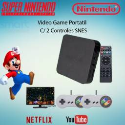 Super Game Box Video Game Retro Multijogos 7000 Jogos Controle SNES