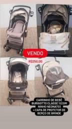 Carrinho de bebê burigotto classe 1 com ninho neonato + brinde