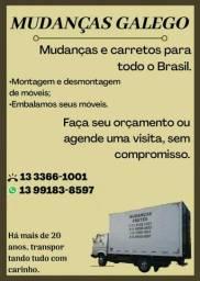 Mudança e carretos para todo o Brasil