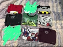 Lote 7 camisetas 6 anos