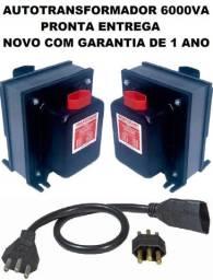 Transformador 6000VA 127~220 Bivolt Para Geladeira Forno Ar Condicionado Lavadora Secadora