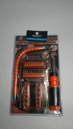 Kit chave screendrive bit set 43 peças;) entrega grátis