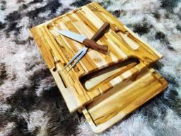 Petisqueira luxo completa com bandeja+faca+garfo