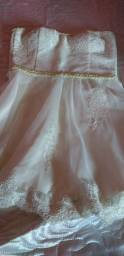 Vestido de festa branco tomara que caia  bordado M