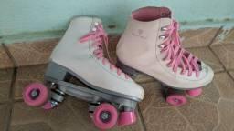 Patins Gonew n 39 branco e rosa