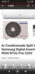 Ar condicionado Samsung 9.000 BTUS, inverter 220 v, pouco Uso, 1 ano e NF.