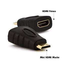 Conector Adaptador Mini Hdmi Macho X Hdmi Fêmea