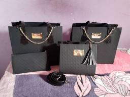 Conjunto de Bolsas na cor preta