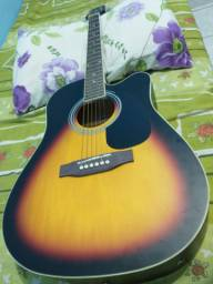 Lindo violão Giannini folk super novo $650,00