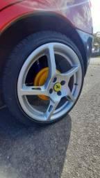 Troco rodas rocket 17 pneu 195/40 por rodas 15 ou 14 de ferro e volta em dinheiro