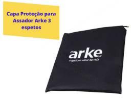 Capa Proteção Churrasqueira 3 Espetos + Brinde Arke Original