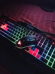 Combo Teclado e Mouse Gamer Ares M1 3200 DPI RGB