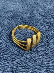 Anel de ouro Amarelo - Branco - Rosê 18k/750 - 2,2g
