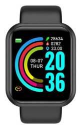 Relógio inteligente Smartwatch y68 d20 funções novo